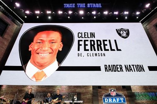 Clelin Ferrell's name is announced during the 2019 NFL Draft