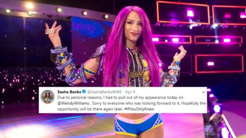 Sasha Banks did not appear on Raw this week