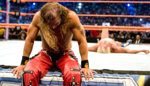 A dejected HBK after ending Flair's career!