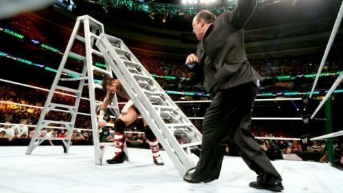 Paul Heyman prevents CM Punk from winning the MITB contract.