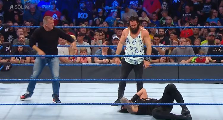 Shane McMahon and Elias attacked Roman Reigns on SmackDown Live.