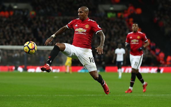 Ashley Young had a disappointing game against Barcelona