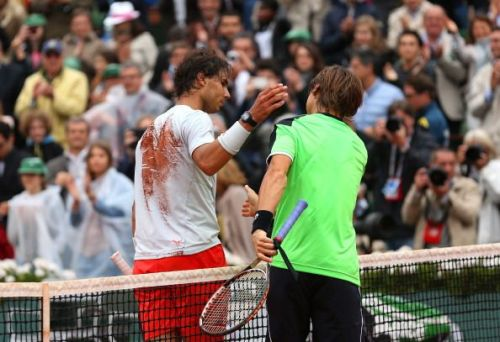 Rafael Nadal and David Ferrer after their 2013 French Open final