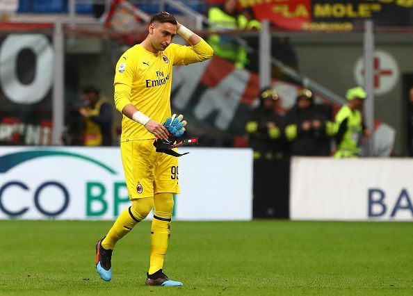 Ginaluigi Donnarumma will back in the goal for AC Milan after missing the last couple of matches.