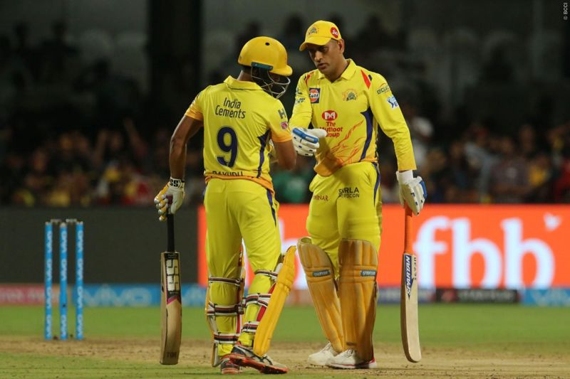 Dhoni and Rayudu steadied the ship for CSK with a 95-run partnership (picture courtesy: BCCI/iplt20.com)