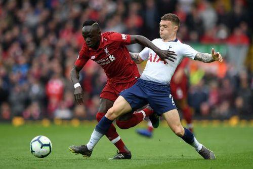 Liverpool's Sadio Mane getting the better off Kieran Trippier