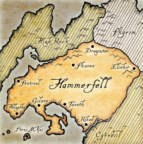 A map of Hammerfell