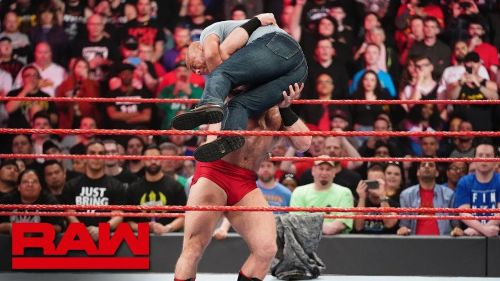 Kurt Angle was destroyed by a debuting Lars this week on Raw