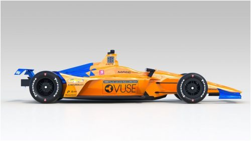Fernando Alonso's car for the Indy 500