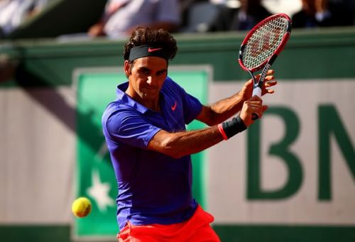 Roger Federer in action at his last French Open in 2015