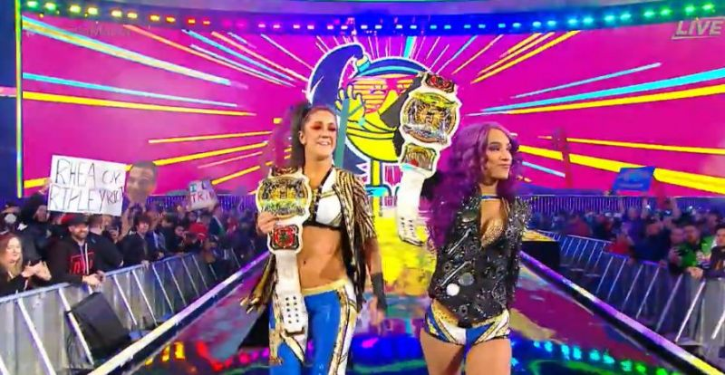 Sasha Banks and Bayley lost their Women's Tag Team titles at WrestleMania 35