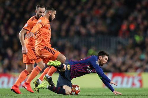 Nabil Fekir in action against Barcelona