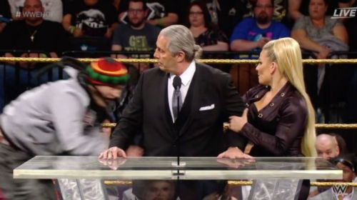 Bret Hart avoided serious injury when a fan unexpectedly attacked him in the ring.