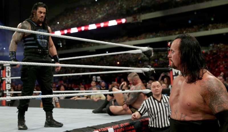 Having Reigns as the surprise 30th entrant and eliminate The Undertaker didn