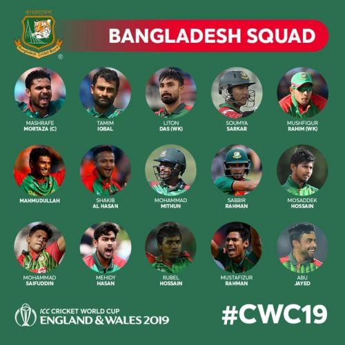 Bangladesh's World Cup squad
