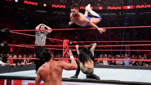 Andrade challenged Balor after being drafted to RAW