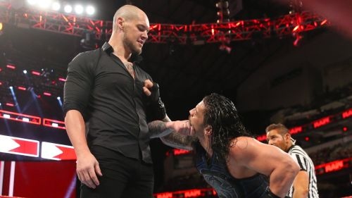 Image result for roman attacked by baron corbin