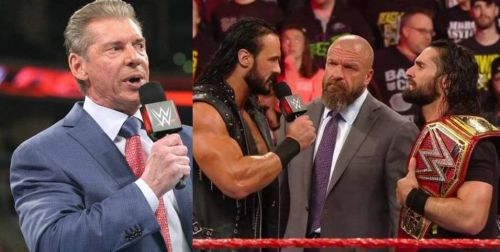 WWE head honcho Vince McMahon (far left) has been hailed by many for his business acumen; and for often times, taking calculated risks in the creative process