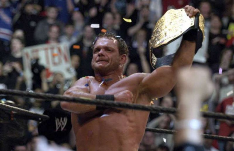 Benoit with the World Title