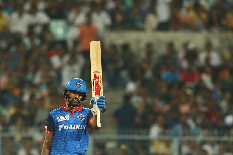 Shikhar Dhawan, leading run-scorer for Delhi Capitals at present. (Image courtesy: BCCI/iplt20.com)