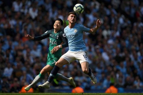 Heung Min Son was closely marked by Aymeric Laporte on Saturday