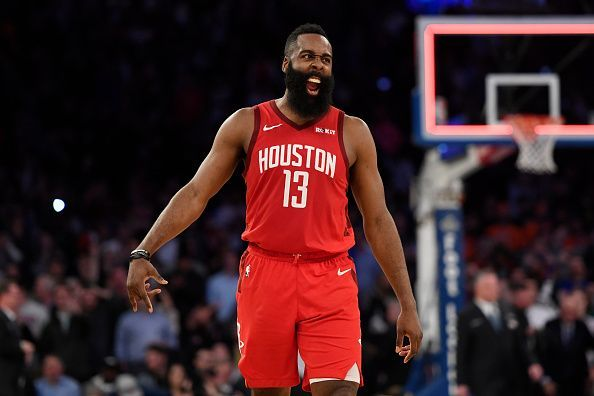 James Harden and the Houston Rockets will take on the Brooklyn Nets