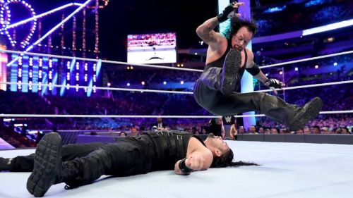 The Deadman is 0-2 in matches against the Big Dog Roman Reigns.