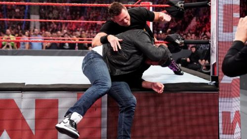 The Miz attacks Shane McMahon on Raw