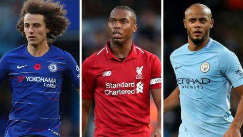 (L-R) David Luiz, Daniel Sturridge, Vincent Kompany