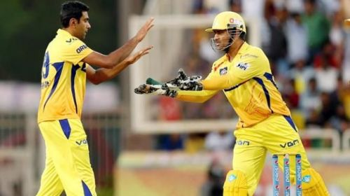 Ravichandran Ashwin and MS Dhoni have played many games together for CSK (Image courtesy: BCCI/iplt20.com)