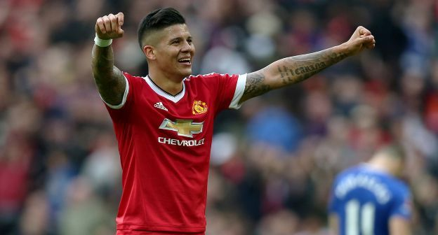 Marcos Rojo could be one of the contenders to replace Luke Shaw
