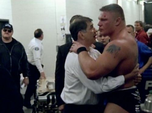 Lesnar after his first 'Mania match