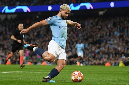 Aguero would hope to continue his scoring form against Spurs