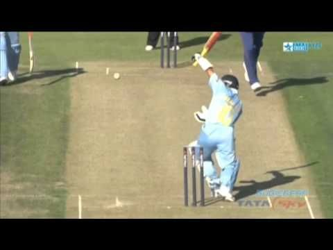 Tendulkar was given out caught behind when the ball hit his arm guard and nothing else!