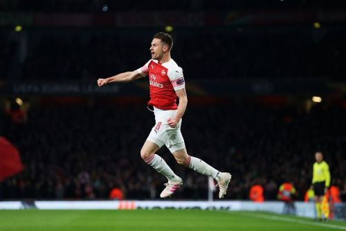 Ramsey celebrates after breaking the dead