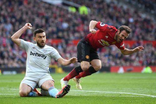 Juan Mata was not at his best against West Ham United