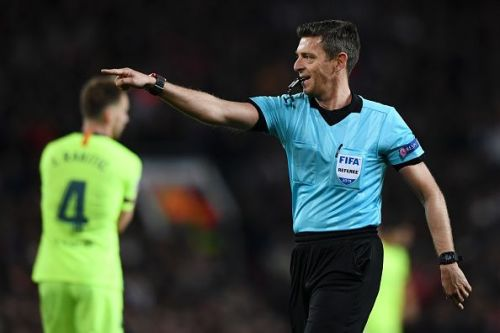 Referee Gianluca Rocchi did not have a great game either