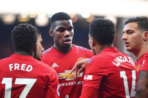 Paul Pogba's brace from the penalty spot helped Manchester United get all 3 points