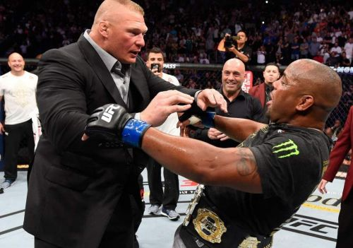 Lesnar opened up on UFC inviting him to fight Daniel Cormier for the UFC World Heavyweight Title