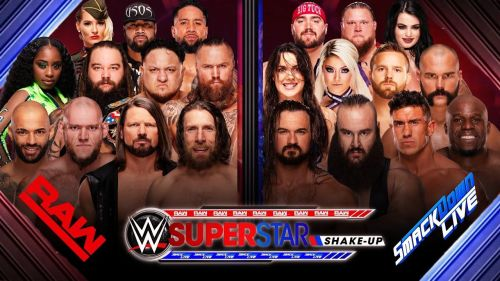 What does WWE have planned for The superstar shakeup?