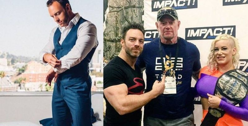 Eli Drake (left) and (second from left) has represented Impact Wrestling at several important public events, besides also being one of its top in-ring performers
