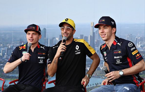 (Left-right) Max Verstappen, Daniel Ricciardo and Pierre Gasly have all come through the RB Academy.