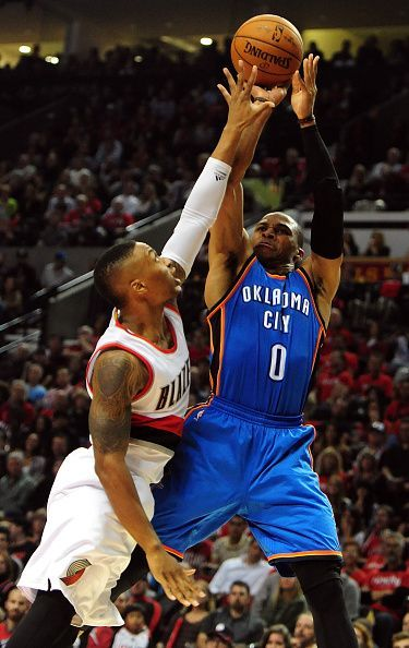 Damian Lillard and Russel Westbrook