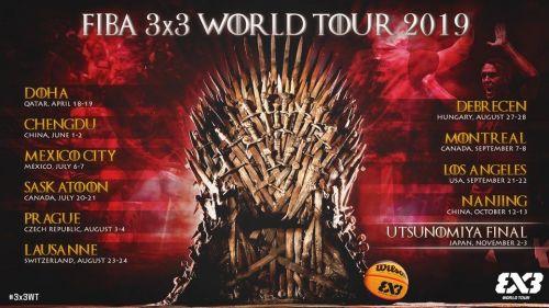 FIBA 3x3 World Tour 2019 dates and venues
