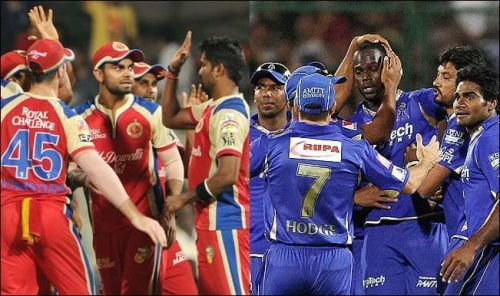 Royal Challengers Bangalore And Rajasthan Royals Team