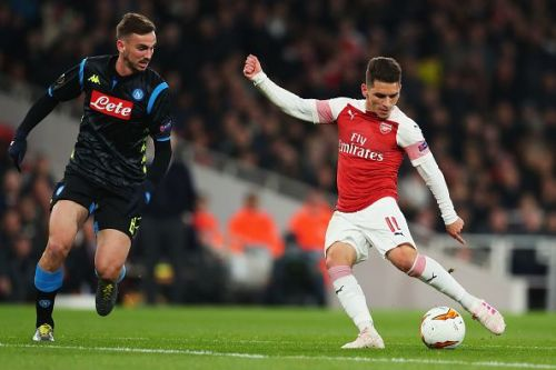 Arsenal v S.S.C. Napoli - UEFA Europa League Quarter Final: First Leg