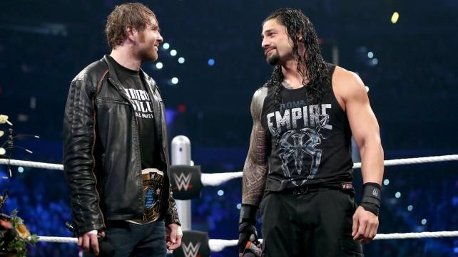 Roman Reigns and Dean Ambrose break character during Shield special