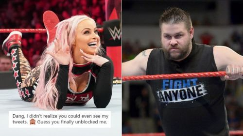 Liv Morgan and Kevin Owens are both active on Twitter