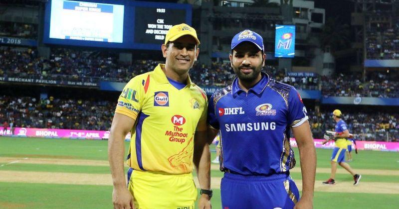 चेन्नई सुपर किंग्स और मुंबई इंडियंस के कप्तान