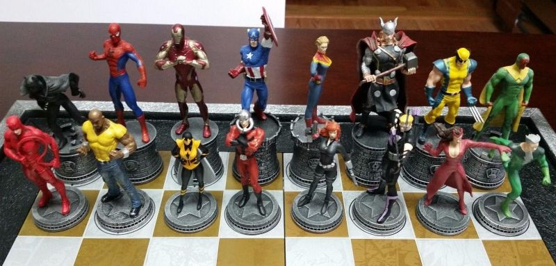 Super hero chess sets are a thing. Why not pro wrestling chess sets?
